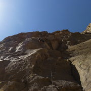 Rock Climbing Photo: Mike Arechiga on, Crotalus Challenge Extensoin. 5....