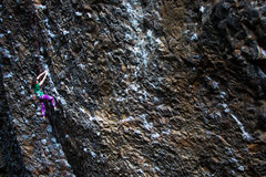 Rock Climbing Photo: Kailee Jamieson checking her feet during the crux ...