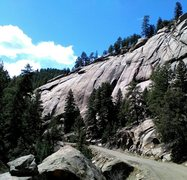 Rock Climbing Photo: Bucksnort Slab, South Platte, co