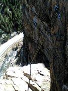 Rock Climbing Photo: Top out, playin' Hooky