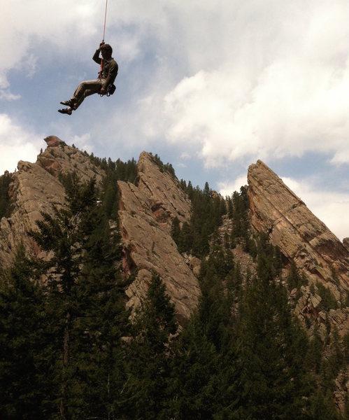 Rock Climbing Photo: Just a little overhanging....