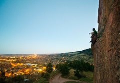Rock Climbing Photo: Red Rocks/Settler's Park rappel ledge