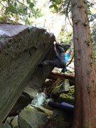 Rock Climbing Photo: Halfway through the traverse.