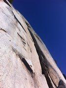 Rock Climbing Photo: Looking up Race Crack