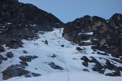 Rock Climbing Photo: Rambling ice in the middle of the route