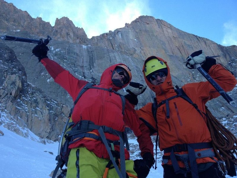 My buddy Andy and I making the best of the day after bailing off a crowded ice route.