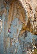 Rock Climbing Photo: Teancum on his redpoint of Singapore