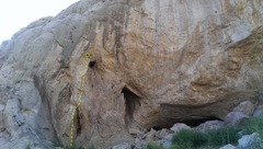 Rock Climbing Photo: Start in the left alcove.