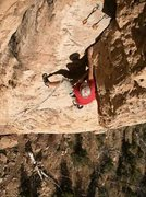 Rock Climbing Photo: Dave Lilliott at the undercling.
