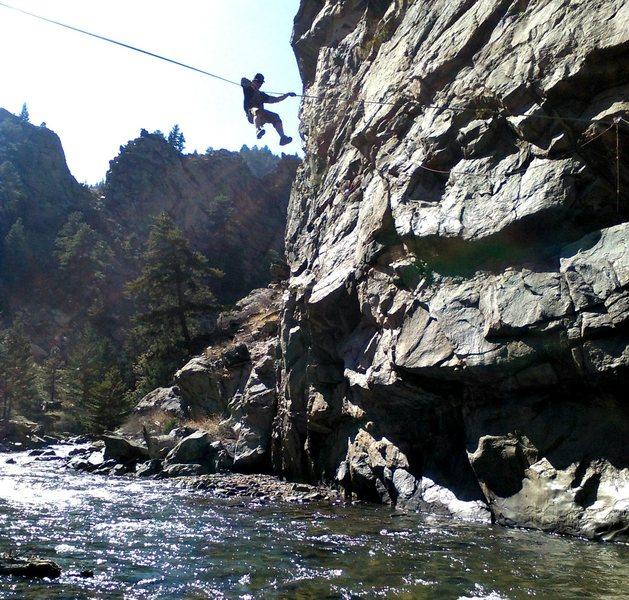 Rock Climbing Photo: High Tyrol, creekside