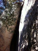 Rock Climbing Photo: The dark corner