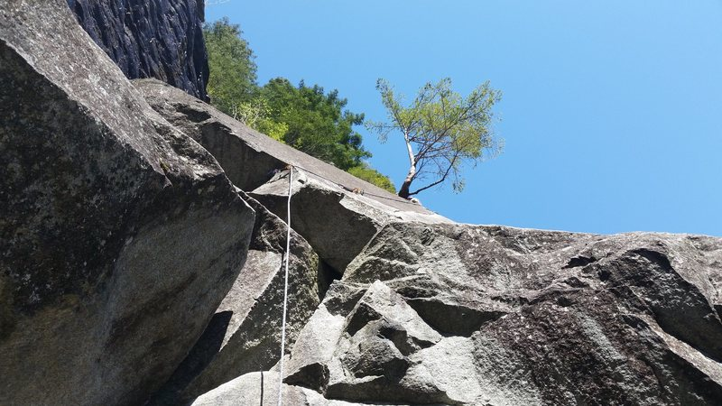 Rock Climbing Photo: Looking up a fun 2nd pitch