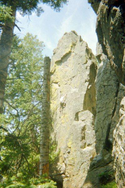 Rock Climbing Photo: The Pillar:  Cougar North Routt, CO