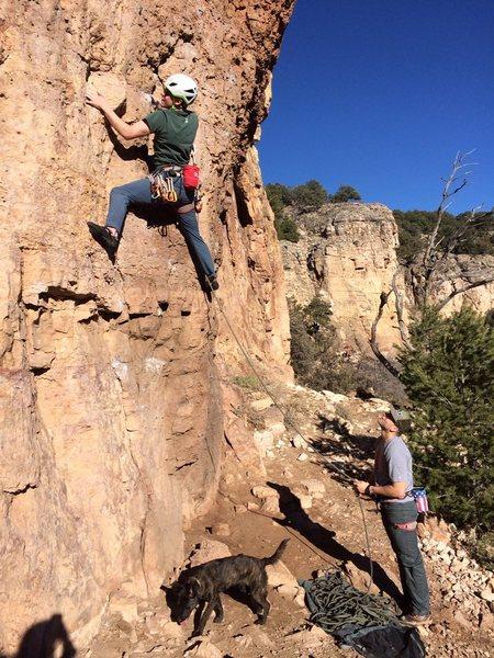 Rock Climbing Photo: Belaying my buddy
