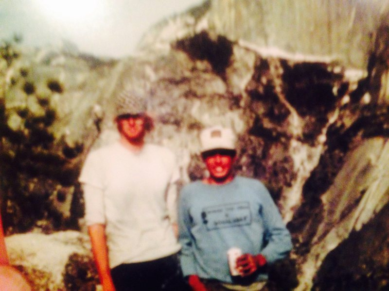 Electric Ladyland, early ascent, Steve Ortner,<br> Aka Stretch & Mike Fogarty, the short guy, FYI, <br> I'm 6.2