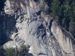 Rock Climbing Photo: #2 of 3 Tele-photo:Middle Rt Side Bear Mt
