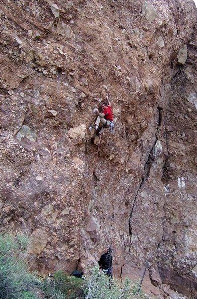 Rock Climbing Photo: Graham on mega volt