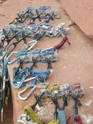 Rock Climbing Photo: Here is the rack.  In order.  I don't remember if ...