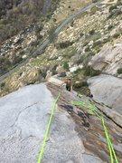 Rock Climbing Photo: Austin following/cleaning.