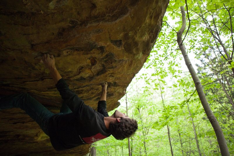 Rock Climbing Photo: Tom Atkins on Peaches and Cream