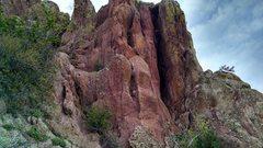 Rock Climbing Photo: Larger area around chimney.