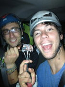 Rock Climbing Photo: Daniel and I getting stoked to go slot some gear