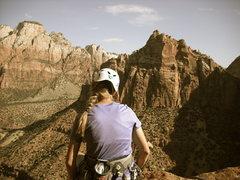 Rock Climbing Photo: Ataxia Tower in Zion