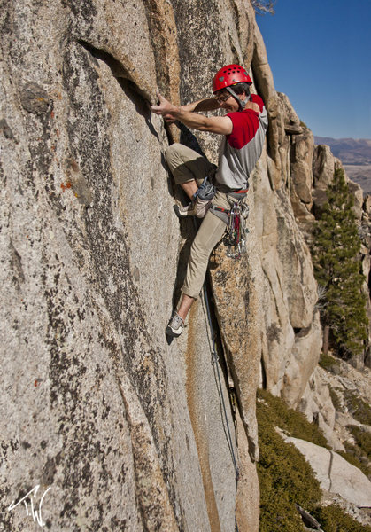 Rock Climbing Photo: Kenny at the crux.