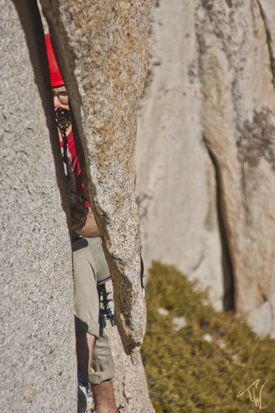 Rock Climbing Photo: The opening moves at the tip of the arrowhead are ...