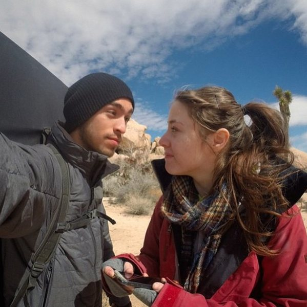 The Whole Wheat Bandits (Javi and Danielle) in Joshua Tree.