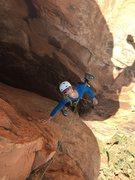 Rock Climbing Photo: The step across