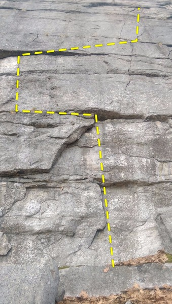 Rock Climbing Photo: The somewhat contrived start to Coprophagia. Guide...