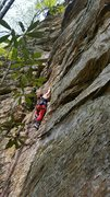 Rock Climbing Photo: Boltergeist, 5.10b, Red River Gorge KY