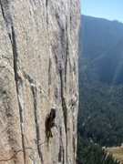 Rock Climbing Photo: Strung out on the Captain!!!
