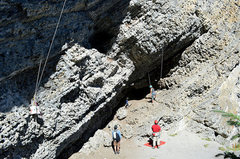 Rock Climbing Photo: The meathooks area and the old project that has si...