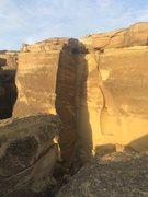 Rock Climbing Photo: Cal's Crack follows up the corner.