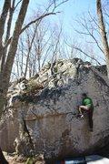 Rock Climbing Photo: Boogie Man-tle
