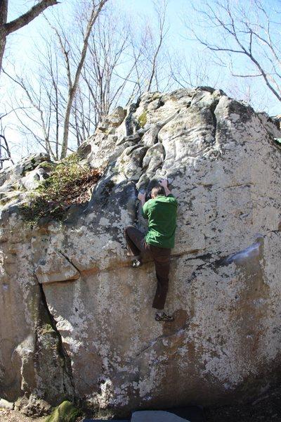 Rock Climbing Photo: Dave pinching the loaf