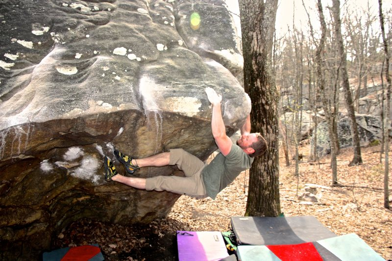 Rock Climbing Photo: Crushin'