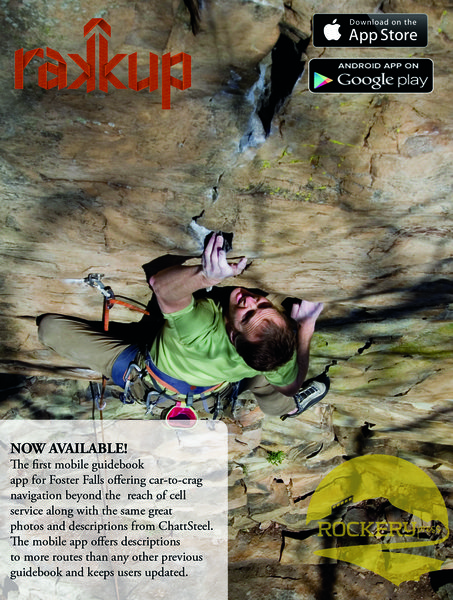Mobile climbing guide to Foster Falls available at Rakkup.com