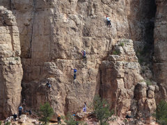 Rock Climbing Photo: Climber's (L->R) on Lamont's Period, Period Epi...