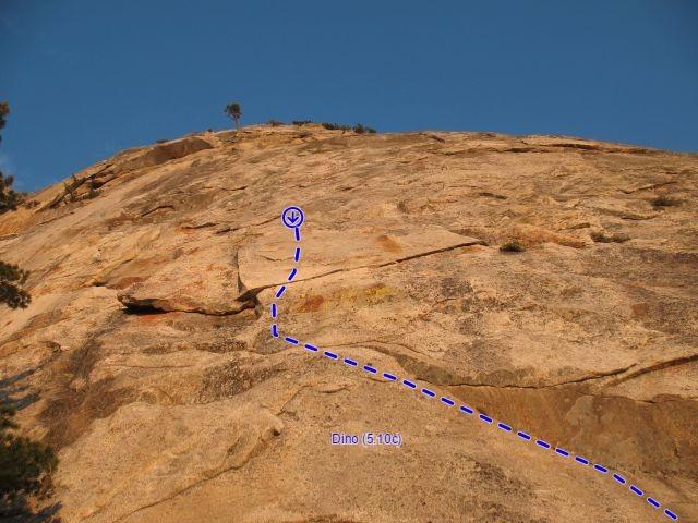 Dino (5.10c), Tahquitz Rock