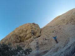 Rock Climbing Photo: Scott crushing the Crux