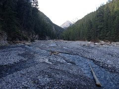Rock Climbing Photo: Since the flood (2013) the canyon is basically a p...