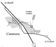 Rock Climbing Photo: Approximate location of Cougar canyon.