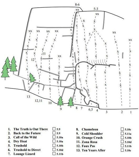 Rock Climbing Photo: Most of the routes on chameleon! Thx old dr. topo ...