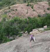 Rock Climbing Photo: Therese working her way up the route.