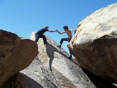 Rock Climbing Photo: Fooling around. This is somewhere to the left of t...
