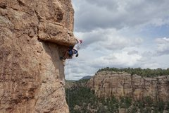 Rock Climbing Photo: Pulling the roof with great holds on BR2 aka Tinse...
