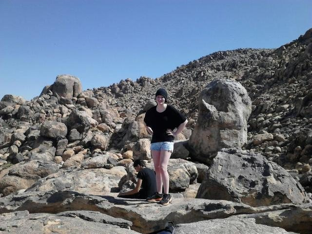 On top of the Thumb at Horseman's Center. I was always known for wearing short shorts for climbing >.><br> Taken approx. 2011